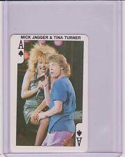 VERY RARE 1986 DANDY ROCK'N BUBBLE ~ MICK JAGGER ~ TINA TURNER PLAYING CARD