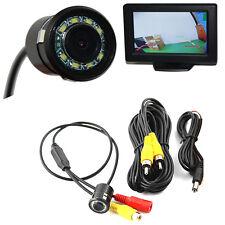 New Car Rear View Camera Fold Monitor Vehicle Cam LCD Display 8 LED Night Vision