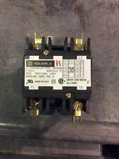 Square D Contactor Class 8910 Type DPA32 Series A 30 Amp 2 Pole 120 Volt Coil