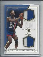 WALTER BERRY 2013-14 NATIONAL TREASURES NBA GAME GEAR GOLD DUAL PATCH #D 14/25