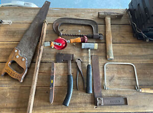 Vintage Woodworking Lot of Miscellaneous Hand Tools Carpentry Tools