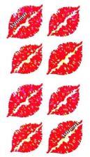 ~ Sparkle Love Kiss Lip Kissing Lips Red Hambly Studio Glitter Stickers ~