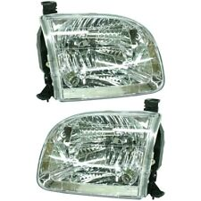 Headlight Set For 2004 Toyota Tundra 2001-2004 Sequoia Left & Right w/ bulb