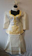 Women Clothing African Dashiki Skirt Suit Attire Off White Free Size Print #9315