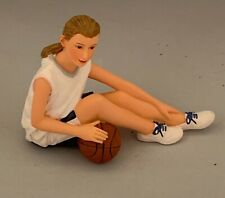 Dolls House Miniature 1/12th Scale Resin Doll Figurine 'Anna Basketball' HW3030
