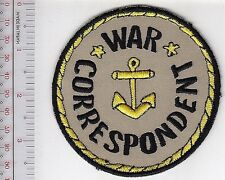 US Navy USN WWII Naval War Correspondent Shoulder Patch khaki
