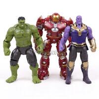 Marvel Avengers Infinity War Hulk Thanos Hulkbuster PVC Action Figures Toys 3pcs