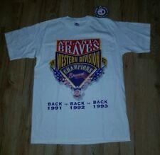 Atlanta Braves 1993 Western Division 3 x Champs Starter T-Shirt men's sz-Medium