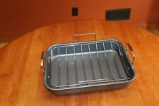"""Farberware Non-Stick 16"""" X 12"""" Roaster Pan with Stainless Steel Rack"""