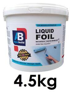 4.5kg Waterproof Tanking Membrane Aqua Build Liquid Foil Shower Wet Room System