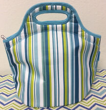 Tupperware Small Insulated Lunch Bag Green, Blue, White 13 x 13 x 7 New