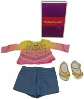 American Girl 2016 Doll Of Year Lea's Lea Bahia Outfit Sandals Short Top Set