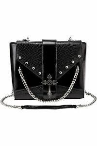 Killstar Nona Pentagram Cross Satanic Gothic Punk Witch Chain Handbag KSRA002178
