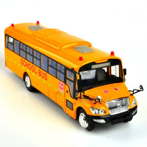 1/42 Yellow School Bus Yutong ZK6109DX Diecast Model Bus Car Toys Gifts