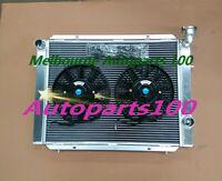 Aluminum Radiator + Two Fan for Holden Commodore VB VC VH VK V6 Manual 1979-1985