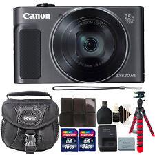 Canon PowerShot SX620 HS 20.2MP 25X Zoom Wifi / NFC Digital Camera Black Bundle