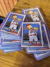 HOMER SIMPSON Baseball Card At The Bat Springfield Softball 1992 SIMPSONS ACEO