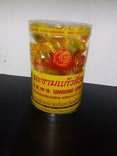100G.Tamarind Candy Thai Snack Sweet Dried Food Natural Herb Fruit
