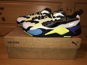 Puma Men's RS-X3 Day Zero 372712-01 White Black Yellow Running Shoes Size 8