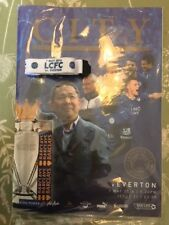 Leicester City V Everton 2016 Champions Programme + Lanyard - Last Chance