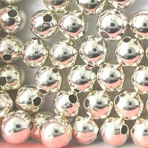 500 Sterling Silver Round Beads 2mm Spacer Beads