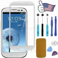 New White Replacement LCD Front Glass Lens Samsung Galaxy S3 i9300 + Tools