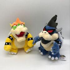 """2X New Super Mario Bros. U Dark Bowser & Bowser Plush Soft Toy Doll Teddy 11"""""""