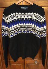 Polo Ralph Lauren Men L Ski CrewNeck Sweater Cotton Cashmere Angora $265 New