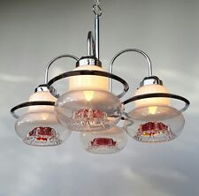 A beauty of a Vintage modernist space age murano chandelier by Mazzega