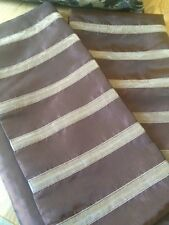 Style Furnishings Brown And Cream Striped Cushion Covers X 2 New