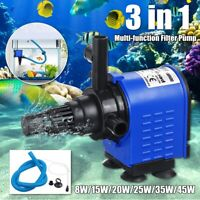 3-in-1 Submersible Aquarium Fish Tank Pond Fountain Water Filter Pump
