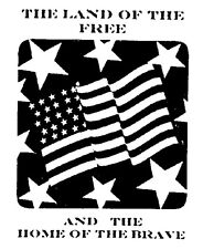 Mounted Rubber Stamp, Patriotic Stamps, Military, Support our Troops, USA, Flag