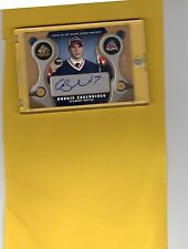 2005-06 SP GAME USED ROOKIE EXCLUSIVES AUTO GILBERT BRULE 64/100