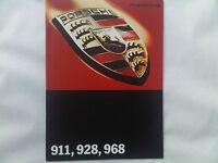 Porsche 911 928 968 Brochure 1994 inc Carrera Cabriolet etc