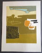 """Lithographie signée Bernard Munch """"Nous attendrons les cigognes"""" EA"""