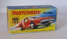 Repro Box Matchbox Superfast Nr.41 Siva Spyder