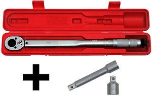 """FAMEX 10886 Clé Dynamométrique 1/2"""" 30-210Nm clé à molette rotative cliquet"""