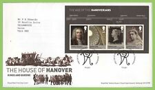 G.B. 2011 House of Hanover M/S on Royal Mail First Day Cover Tallents House