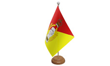 Royal Armoured Corps Military Table Flag with Wooden Stand