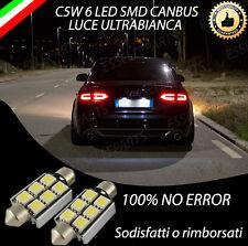 COPPIA LUCI TARGA A LED AUDI A5 6 LED CANBUS NO AVARIA 6000K BIANCO