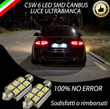 COPPIA LUCI TARGA A LED AUDI A4 B8 8K 6 LED CANBUS NO AVARIA 6000K BIANCO