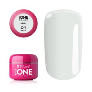 Silcare Base One NEON Colour UV Gel Polish Pots Nails ACID FREE Hybrid Manicure