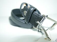 NUOVO! FABIO MASSARI HAND MADE Cintura in Pelle Italiana Medium RTP £ 99 Fibbia in Ottone