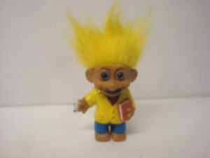Figurine Antique Doll Troll Doll Russ 6 5/16in Yellow Professor