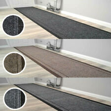 Hallway Stairway Runner Mat Rug Very Long Non Slip Black Grey Beige Carpet
