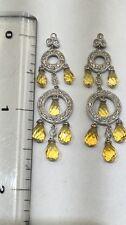 14K Citrine And Diamond Chandelier Earrings