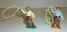 Timpo Toys Wildwest Sammlung 2 Cowboys mit Lasso Lassowerfer TOP ZUSTAND