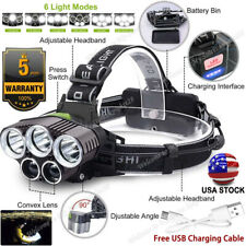 High Power 350000LM T6 LED Headlight Headlamp Torch Rechargeable Flashlight USA