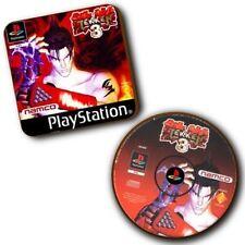 Tekken 3 PlayStation PS1 Game Box Art + Disc Art - Wood Coasters - Set Of 2