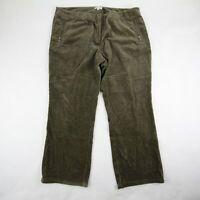 Eileen Fisher Women's Bootcut Corduroy Pants High Rise Brown Size XL